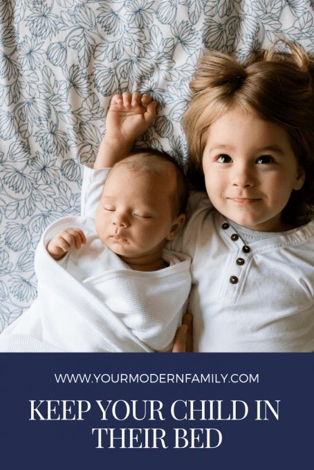 garder le bébé dans votre lit