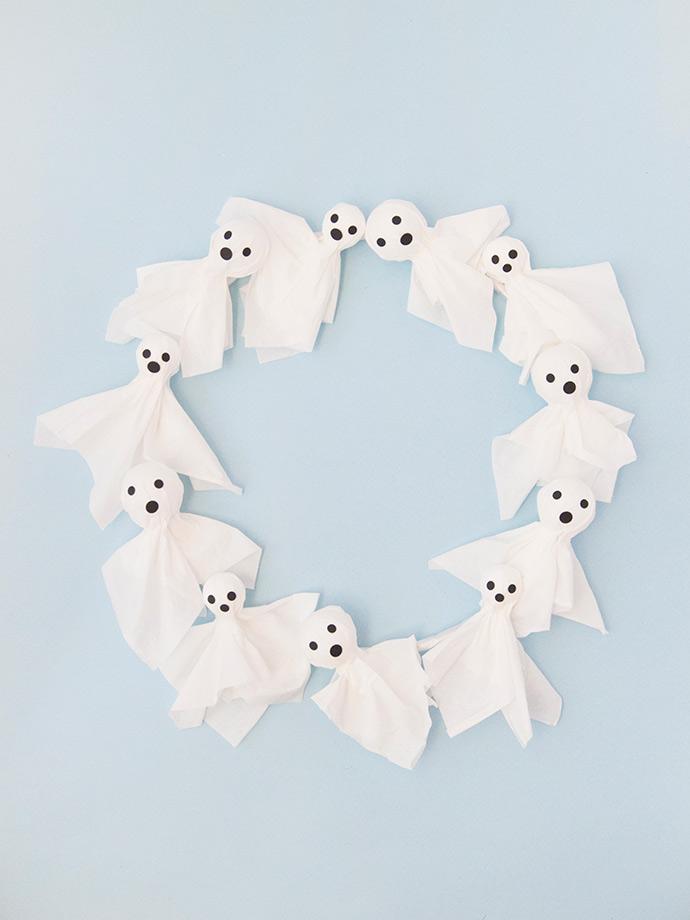 Fantômes papier d'Halloween
